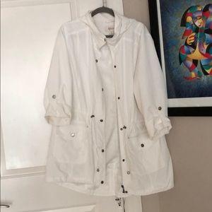 Style & Co White Rain Jacket, Sz xL